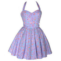 Style Icon's Closet 50s style Vintage Inspired Pin-Up African Print Retro Rockabilly Clothing — 50s Style Cupcake Print Dress