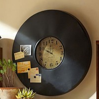 Industrial Chalkboard Wall Clock