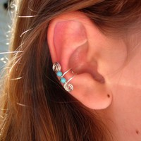 Single Silver Plated Ear Cuff With .. on Luulla