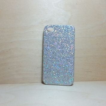 For Apple iPhone 4 / 4s Silver Glitter Case