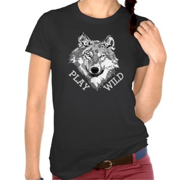 Play Wild Gray Hipster Wolf Head