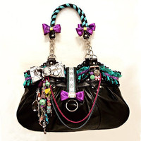 Positively Charming - Kitsch Kaos Designer Multi Colour Hand Made Bag Lace Bow Anchor