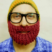 Crochet Beard Face Warmer Redhead by With Love From Lucille
