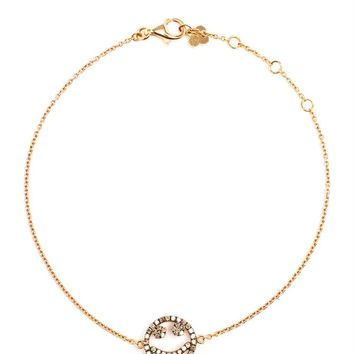 18K Rose Gold Bracelet with Diamond Smile Charm - ROSA DE LA CRUZ