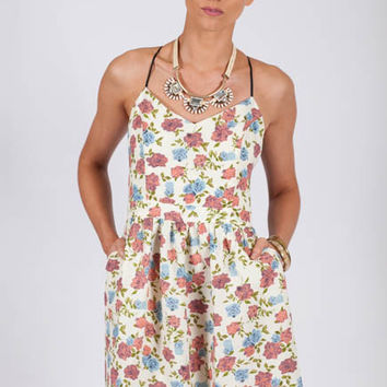Rose to the Occasion Open Back Floral Spring Dress - Lotus Boutique