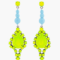 Tom Binns Yellow Bicolor Earrings for Women | SSENSE