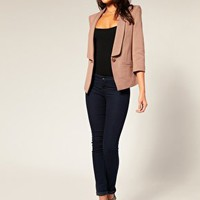 ASOS | ASOS Ponti Deep Lapel Blazer at ASOS