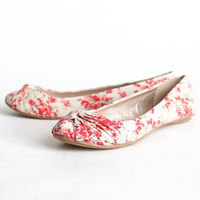 veranda floral flats in beige - $29.99 : ShopRuche.com, Vintage Inspired Clothing, Affordable Clothes, Eco friendly Fashion