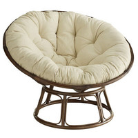 Papasan Chair &amp; Frame - Brown