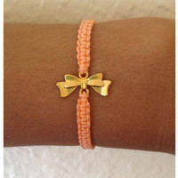 Bow Charm Friendship Bracelet Armcandy
