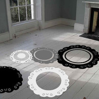 ShaNickers Doilies Floor/ Wall Decal/Sticker Set of 5