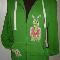 Meganium Chikorita Pokemon Green  Hoodie Jacket