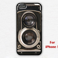 iPhone 5 Case, Vintage Twin Reflex Camera iPhone 5 Case, black iphone 5 case