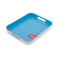 Zeal Melamine Deluxe Tray Blue 33x26cm - Free shipping over $100