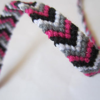 Chevron Friendship Band - Spash of Hot Pink