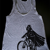 Darth Vader is Riding It  Women Tank Top printed by ironspider
