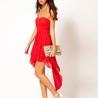 Rare Bandeau Hi Lo Skater Dress at asos.com
