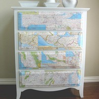 Interior Covet / Domestic Tip #1 (Map Dresser) | Domestic Ease