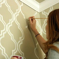 Interior Covet / painted wallpaper {a tutorial} |?jones design company
