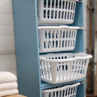To Make...eventually / Laundry basket shelf to sort the dirty clothes