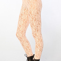 The Lace Legging in Pink