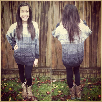 Ombre Vintage Sweater
