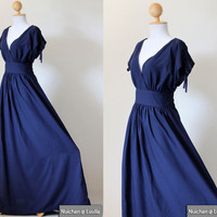 Navy Blue Maxi Dress - Sleeveless O.. on Luulla