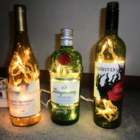 Wine and Liquor Bottle Lamps