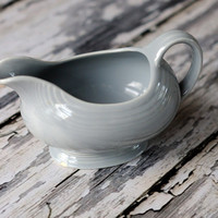 Vintage Fiestaware Grey gravy boat