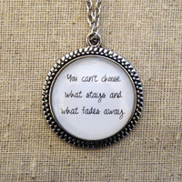 Florence and the Machine No Light, No Light Inspired Lyrical Quote Necklace