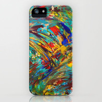 FIREWORKS IN COLOR - Bold Abstract Acrylic Painting Lovely Masculine Colorful Splash Pattern Gift iPhone Case by EbiEmporium | Society6