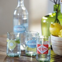 Retro Water Bottle and Glasses, Kitchenware from Berry Red