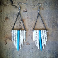 SALE: 35% OFF ENTIRE shop - Spiked Dangle Earrings
