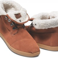 Highlands Chesnut Suede Fleece Women's Botas | TOMS.com