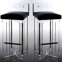 DESIGNLUSH CHRIS CROSS BAR STOOL
