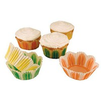 Pastel Fluted Cupcake LIners | Unique shape for cupcakes! Kitchen Krafts