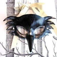 Raven Leather Mask Child Size Made to Order by SundriesAndPlunder