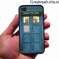 TARDIS Doctor Who iPhone 4, iPhone 4 case, iPhone 4S case, Rubber silicone case