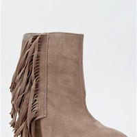 Qupid MADDOX-07 Fringe Wedge Bootie | Shop Qupid Shoes