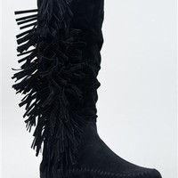 Bamboo FRIENDS-14 Knee High Fringe Boot | Shop Bamboo Shoes