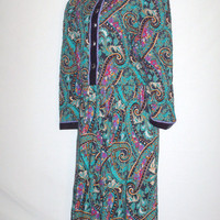 Vintage 1980s Paisley Design Quilted Blazer Pants Set