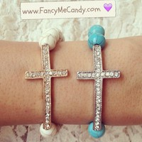 Chic Bead Cross from Fancy Me Candy