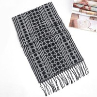 Cheap jacquard pattern cashmere black scarf ca0086 [ca0086]- US$17.00 outlet free shipping with top quality - scarves4ever.com