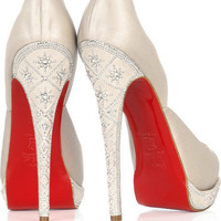 Christian Louboutin Eugenie satin pumps - &amp;#36;200.00
