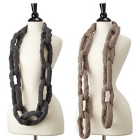CHAIN LINK SCARF | Chain Link Scarf, accessories, handmade, wool, necklace, UncommonGoods | UncommonGoods