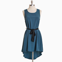 dumonte crest asymmetrical dress in teal - &amp;#36;36.99 : ShopRuche.com, Vintage Inspired Clothing, Affordable Clothes, Eco friendly Fashion