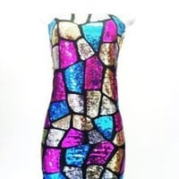 Celize Multi Sequin Dress