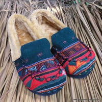 Akha Tribal Embroidery Womens Riley Slippers