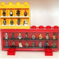 Amazon.com: Lego Large Minifigure Display Case Black: Toys & Games