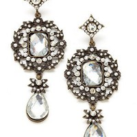 ideeli | CARA COUTURE Antique Drop Earrings with Crystals